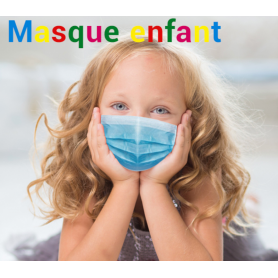 50 Masques chirurgicaux 3 plis pour enfant