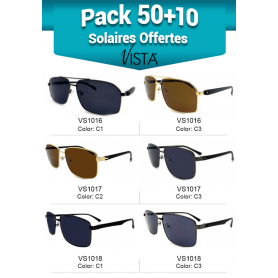 """PACK 50 + 10 SOLAIRES OFFERTES """"2ND PAIRE"""" VISTA"""