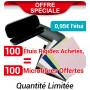 PACK PROMO 100 ETUIS ACHETES, 100 MICROFIBRES OFFERTES